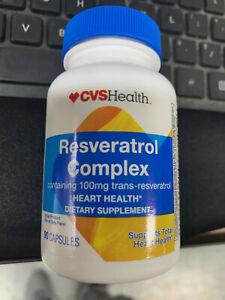 90ct Resveratrol Complex 100mg Heart Health Grape Seed Extract vitamins BB9/2021