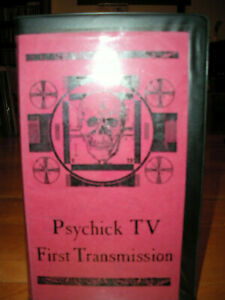 MEGA RARE VHS Psychick Tv - First Transmission PSYCHIC TV GENESIS P-ORRIDGE ITA