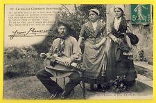 cpa Type du BERRY La Vieille CHANSON BERRIAUDE de Jean RAMEAU Vielleur à Roue