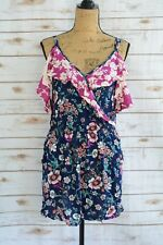 4a4627e2789a NWT Xhilaration - Navy multi-color FLORAL rayon tank shorts romper