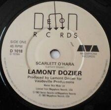 "LAMONT DOZIER - SCARLETT O'HARA 7"" VINYL SINGLE 1980s SOUL NM/EX"
