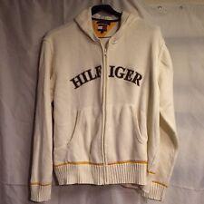 Tommy Hilfiger Men's Ivory Logo Zip Up Sweater XXL