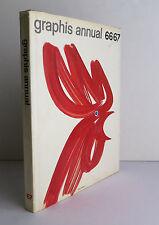 Graphis Annual 66/67 Mid-Century Advertising Art Graphic Design Illustration