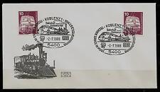 """BRD Brief """"Technik groß in Mode -Bahnhofsfest-"""" 5400 Koblenz 1 (1) -2.-7.1988"""