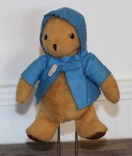 "Vintage PADDINGTON BEAR 1975 EDEN Plush Stuffed Animal Bean Bag Blue Jacket 9"""