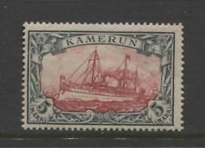1900 German colonies Cameroun 5 Mark Yacht issue mint**, $ 720.00
