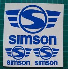 Simson  Aufkleber Set Blau