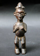 Old used double Yaka statue from Congo tribal art african africain congolese