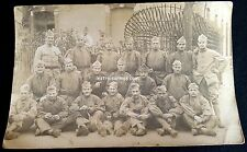 A0108 - Photo soldats du 131° Régiment d'Infanterie en bourgeron-blouse 1914