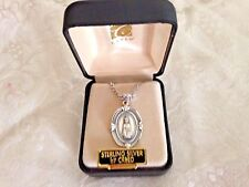 "CREED NEW ""INFANT of PRAGUE""  STERLING SILVER Medal 18"" Chain  Boxed SS3603"