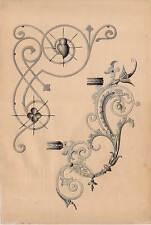 Acquerello 1909 ornata-lavori in metallo