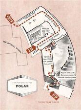 Festival della Gran Bretagna. Polar reperto. Tour piano 1951 Vecchio Vintage Mappa Grafico