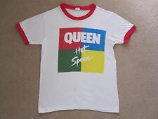 QUEEN  :  Vintage 1982 Hot Space Concert T-Shirt  -  UK Tour  -  Freddie Mercury