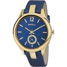 Orologio Donna BREIL LIBERTY TW1462 Gold Dorato Vera Pelle Blu Sub 50mt