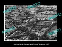 OLD LARGE HISTORIC PHOTO MYTCHETT SURREY ENGLAND AERIAL VIEW OF DISTRICT 1950 1