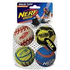 "Nerf Dog Mega Strength 2.5"" Sports Balls (4pk)"