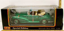 Maisto 1955 Mercedes Benz 300S Die Cast 1:18 Special Edition Model #31806 Nib+