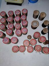 (27) Antique Vintage Cotton Thread Wooden Spools- Belding Corticelli Co.+ Others