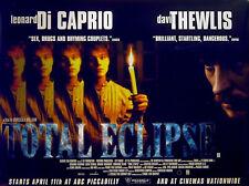 TOTAL ECLIPSE 1997 Leonardo Di Caprio David Thewlis Romane Bohringer QUAD POSTER