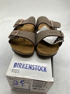 NWB Birkenstock ARIZONAmocha -Flor Buckle Slide SandalsKids Size 26 Cy8822
