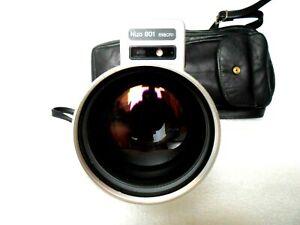 Braun Nizo S 801 macro Super 8 Film Camera Schneider Look + Bag