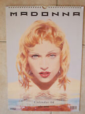 CALENDARIO OFFICIAL CALENDAR MADONNA 1994 vintage poster photo Ciccone