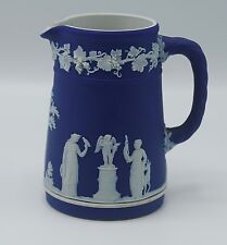 1942 Wedgwood Jasperware Cobalt Blue Trojan Jug Pitcher