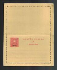 Mint Portugal Macau 4 Overprint Postal Stationary Postcard Cover