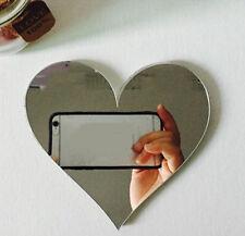 3D Mirror Wall Sticker Love Heart DIY Art Mural Home Decor Acrylic Decals