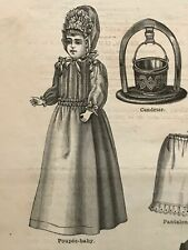 MODE ILLUSTREE SEWING PATTERN Nov 20,1887 DOLL outfits patterns