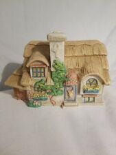 Vintage Ceramic Cottage , Music Box , musical , girls collectors
