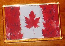 Canada Maple Leaf flag fridge magnet