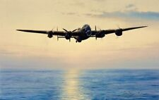 COAST IN SIGHT - SIGNED - WWII AVIATION L/E PRINT - Robert Taylor