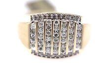 10k Gold Mens Genuine Diamond Ring .50ct Diamonds Channel Setting