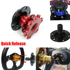 QUICK RELEASE SNAP OFF STEERING WHEEL HUB BOSS KIT Fit For OMP SPARCO MOMO RED