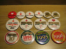 Badges and Pins, Various Days Gone designs (13) from deceased Estate
