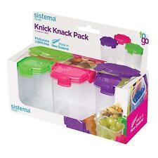 4 X Sistema To Go Knick Knack Paquet 138ml Pot, Tricotage Rangement Conteneurs