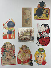 New listing Lot Old Vintage Antique Mechanical Cards Valentines Day Baby