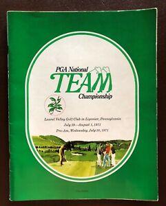 1971 PGA NATIONAL TEAM CHAMPIONSHIP PROGRAM  ARNOLD PALMER AND JACK NICKLAUS WIN