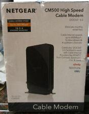 NEW Netgear CM500 High Speed Cable Modem 680 mbps DOCSIS 3.0