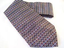 Ashford & Brooks Designer Tie Men's Silk Necktie Geometric Made in London Black
