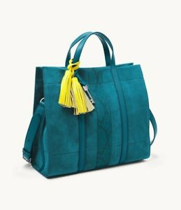 FOSSIL Carmen Shopper ZB1363983 Genuine Leather Lagoon Blue  NWT