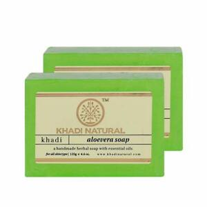 Khadi Natural Soap Indian Handmade Natural Soap Unisex, 125g Each Set Of 2 Pcs
