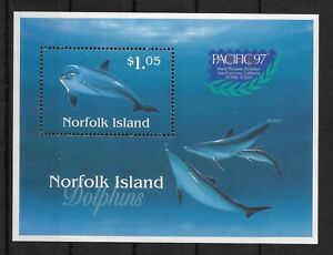 NORFOLK ISLAND *1997* S/Sheet * MNH** Dolphines - Overprinted PACIFIC -Mi. BL18I