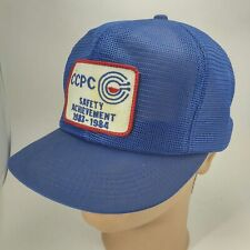 Vintage 1984 CCPC Mesh SnapBack Trucker Hat Cap Patch K Products USA Blue b8c0763f4016