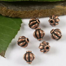 25pcs copper-tone lantern spacer beads H2104