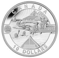 2013 $10 1/2 oz Canadian Summer Fun O Canada Series 99.99% Pure Silver Coin