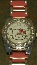 Sanrio Child Hello Kitty Watch Fashion Crystal Bezel Quartz