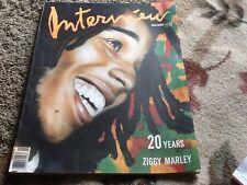 Ziggy Marley interview  vintage  November.