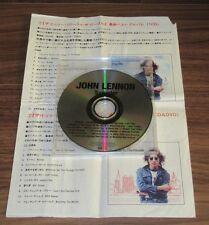 SEALED! John LENNON Japan PROMO ONLY 20 track CD THE BEATLES + press release!